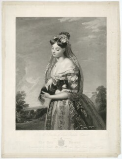 'The Fair Forester' (Mrs Barron), by George Thomas Doo, after  Henry Wyatt - NPG D21474