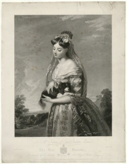 'The Fair Forester' (Mrs Barron), by George Thomas Doo, after  Henry Wyatt - NPG D21476