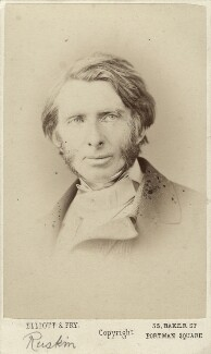 John Ruskin, by Elliott & Fry - NPG x13290
