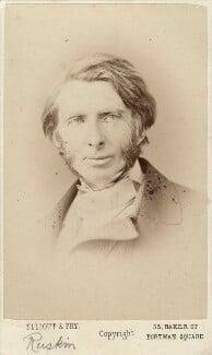 John Ruskin, by Elliott & Fry, 1867 - NPG x13290 - © National Portrait Gallery, London