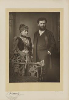 Lillian June Henshel (née Bailey); Sir George Henschel, by Herbert Rose Barraud, published by  Eglington & Co - NPG Ax5546
