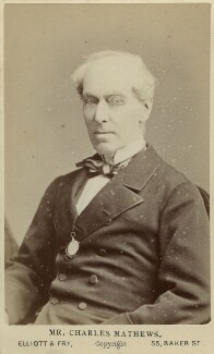 Charles James Mathews, by Elliott & Fry - NPG Ax46238