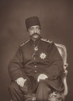 Nasser al-Din, Shah of Persia, by Herbert Rose Barraud, published by  Eglington & Co - NPG Ax5463