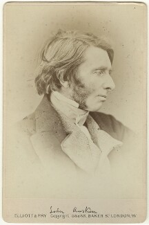 John Ruskin, by Elliott & Fry - NPG x35909
