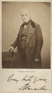 Thomas Babington Macaulay, Baron Macaulay, by Maull & Polyblank, published by  Adam & Charles Black - NPG Ax7346