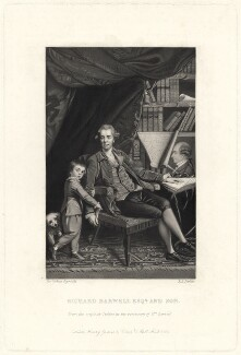 Richard Barwell and his son Richard, by Robert Bowyer Parkes, published by  Henry Graves & Co, after  Sir Joshua Reynolds - NPG D21489