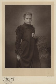 Annie Besant (née Wood), by Herbert Rose Barraud, published by  Eglington & Co - NPG Ax5543