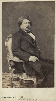 Alexandre Dumas, by and published by Dagron & Cie, 1860s - NPG x19852 - © National Portrait Gallery, London