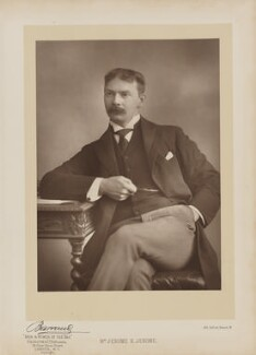 Jerome Klapka Jerome, by Herbert Rose Barraud, published by  Eglington & Co, published 1893 - NPG Ax27638 - © National Portrait Gallery, London