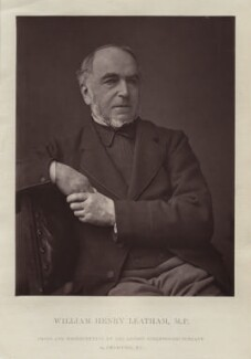 William Henry Leatham, by London Stereoscopic & Photographic Company - NPG x128746