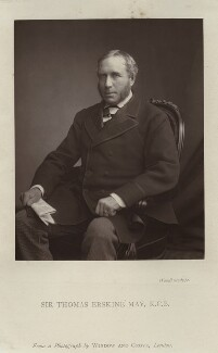 Thomas Erskine May, 1st Baron Farnborough, after Window & Grove - NPG x128748