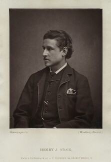 Henry John Stock, by London Stereoscopic & Photographic Company, after  Albert Eugene Fradelle - NPG x128751