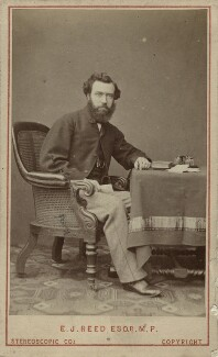 Sir Edward James Reed, by London Stereoscopic & Photographic Company - NPG x45711