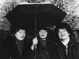 Christine Pullein-Thompson; Diana Pullein-Thompson; Josephine Pullein-Thompson, by Sam Barker - NPG x87719