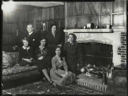 Sir Robert Charles Evans; Dorothea Grace (née Baker), Lady Evans and their daughters, by Bassano Ltd, 8 January 1935 - NPG x151266 - © National Portrait Gallery, London