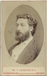 Frederic Leighton, Baron Leighton, by London Stereoscopic & Photographic Company, 1860s - NPG x27582 - © National Portrait Gallery, London