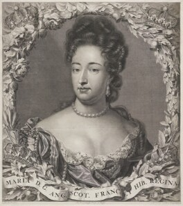 Queen Mary II, by Pieter Stevens van Gunst, after  Jan Henrik Brandon - NPG D21515