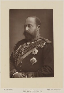 King Edward VII when Prince of Wales, by W. & D. Downey, published by  Cassell & Company, Ltd - NPG Ax14727