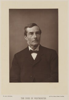 Hugh Lupus Grosvenor, 1st Duke of Westminster, by W. & D. Downey, published by  Cassell & Company, Ltd - NPG Ax14730
