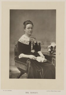 Dame Millicent Garrett Fawcett (née Garrett), by W. & D. Downey, published by  Cassell & Company, Ltd, published 1890 - NPG Ax14745 - © National Portrait Gallery, London