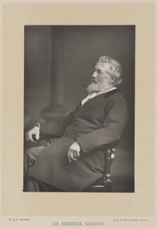 Frederic Leighton, Baron Leighton, by W. & D. Downey, published by  Cassell & Company, Ltd, published 1890 - NPG Ax14752 - © National Portrait Gallery, London