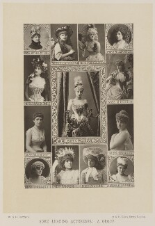 'Some Leading Actresses: A Group', by W. & D. Downey, published by  Cassell & Company, Ltd - NPG Ax14728