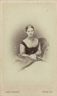 Alicia Ellen Neve Little (née Bewicke) (Mrs Archibald Little), by (Cornelius) Jabez Hughes - NPG x128756