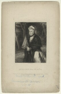 Mary Stuart (née Wortley Montagu), Countess of Bute, by William Greatbach, published by  Richard Bentley, after  Sir Joshua Reynolds - NPG D21525
