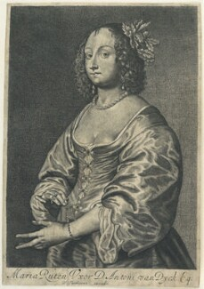 Mary (née Ruthven), Lady van Dyck, by and published by William Faithorne, after  Schelte Bolswert, after  Sir Anthony van Dyck - NPG D22929