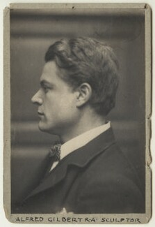 Sir Alfred Gilbert, by Frederick Hollyer - NPG x13183