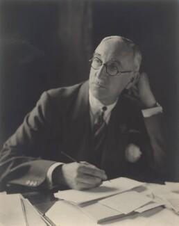 Sir Edward Taswell Campbell, 1st Bt, by Walter Stoneman - NPG x8406