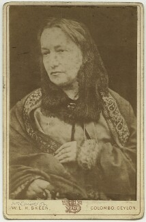 Julia Margaret Cameron, by Henry Herschel Hay Cameron (later The Cameron Studio), printed by  William Louis Henry Skeen - NPG x128761
