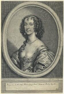 Margaret (née Smith), Lady Herbert, by William Faithorne, after  Sir Anthony van Dyck - NPG D22949