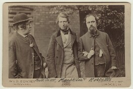 William Bell Scott; John Ruskin; Dante Gabriel Rossetti, by W. & D. Downey, 29 June 1863 - NPG x128797 - © National Portrait Gallery, London
