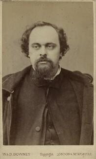 Dante Gabriel Rossetti, by W. & D. Downey, 1880s (December 1862) - NPG x6424 - © National Portrait Gallery, London