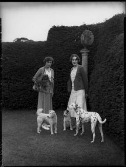 Clare Florence Mary (née Stapleton), Countess Cowley; Diana Mary (née Wellesley), Lady Glentoran, by Bassano Ltd - NPG x151417