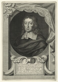 John Milton, by George Vertue, after  William Faithorne - NPG D23543