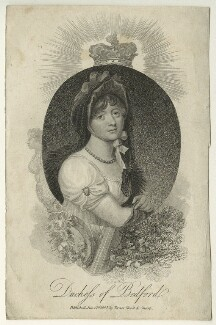 Georgiana Russell (née Gordon), Duchess of Bedford, by Mackenzie, after  William Marshall Craig - NPG D23517