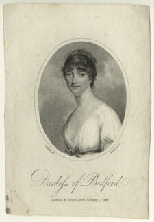 Georgiana Russell (née Gordon), Duchess of Bedford, by Mackenzie, after  Robert William Satchwell - NPG D23518