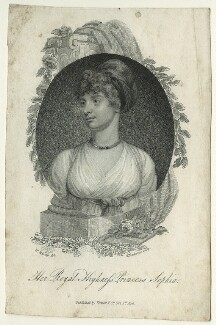 Princess Sophia, by K. Mackenzie, published by  Vernor, Hood & Sharpe, after  William Marshall Craig, published 1806 - NPG D23522 - © National Portrait Gallery, London