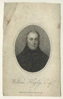 William Hayley, by William Ridley, published by  Vernor & Hood, after  George Romney - NPG D23531