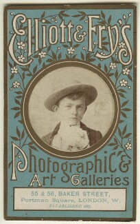 'Elliott & Fry's Photographic & Art Galleries' (Unknown boy), by Elliott & Fry - NPG x128799