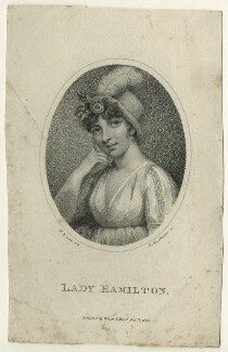 Emma Hamilton, by K. Mackenzie, published by  Vernor & Hood, after  William Mineard Bennett, published 1803 - NPG D23540 - © National Portrait Gallery, London