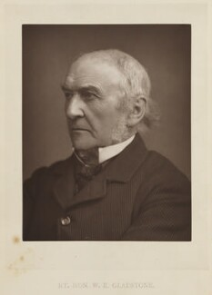 William Ewart Gladstone, by Elliott & Fry, published by  Bickers & Son - NPG Ax27805