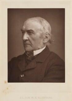 William Ewart Gladstone, by Elliott & Fry, published by  Bickers & Son, published 1886 - NPG Ax27805 - © National Portrait Gallery, London