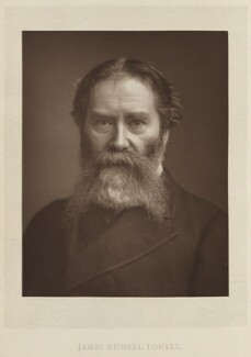 James Russell Lowell, by Elliott & Fry, published by  Bickers & Son - NPG Ax27809
