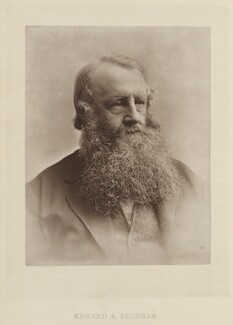 Edward Augustus Freeman, by Elliott & Fry, published by  Bickers & Son - NPG Ax27812