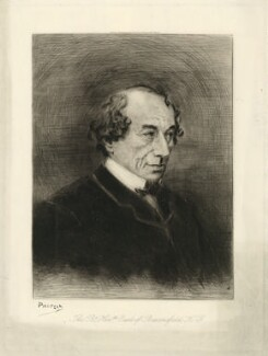 Benjamin Disraeli, Earl of Beaconsfield, by Georges Labadie Pilotell, published 1878 - NPG D21537 - © National Portrait Gallery, London