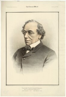 Benjamin Disraeli, Earl of Beaconsfield, by Maclure & Macdonald, after  W. & D. Downey - NPG D21542