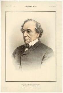 Benjamin Disraeli, Earl of Beaconsfield, by Maclure & Macdonald, after  W. & D. Downey - NPG D21542